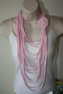 One more t-shirt necklace idea