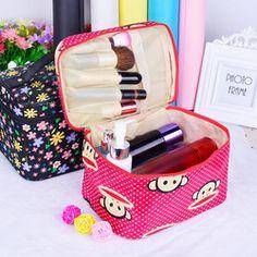 Женский портативный косметический мешок Получать пакет косметика получить мешок прекрасный свежий большой емкости для приема пакета