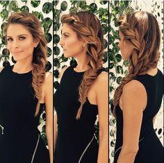 Bridesmaid hair, love the side braid