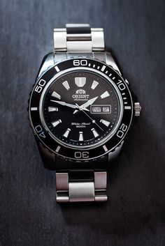 https://flic.kr/p/dFHKmV | Orient Mako XL 04 | Orient Mako XL/Deep - CEM75001B Latest addition to my small Orient collection, another diver styled watch. Japanese automatic in-house movement Cal 46943, 200 meter water resistance, and fantastic build quality for the price.