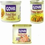 Potted meats for quick meals, Goya has it.