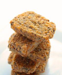 I Breathe... I'm Hungry...: Cheesy Flax & Chia Seed Cracker Bread