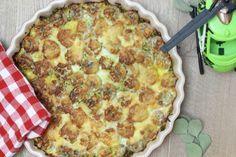 Recept: hartige taart met gehakt, banaan en kerrie
