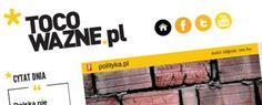 Wczoraj wystartował nowy serwis opinii i analiz ToCoWazne.pl. Na pierwszy rzut oka wygląda na to, że redakcja poszła na łatwiznę i postanowiła stworzyć witrynę bazując na innych tekstach przygotowanych przez konkurencję. http://www.spidersweb.pl/2013/04/to-co-wazne.html