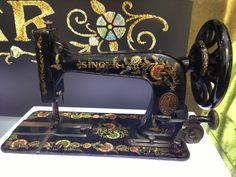 Singer sewing machine, Model 48K, dated 1910. This model was only manufactured at Singer's Clydebank factory and was in production from 1899 to 1914.