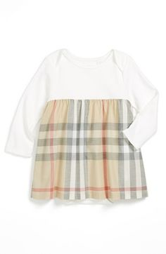 Burberry 'Cherrylina' Knit & Woven Dress (Baby Girls)