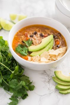 Recipe: Slow-Cooker Chicken Tortilla Soup — Lunch Recipes from The Kitchn | The Kitchn