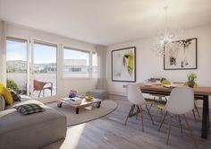Top moderne 3 Zimmer Wohnung in Zürich zu vermieten.