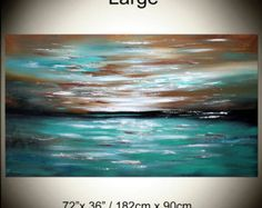Large Abstract painting Wall Art Contemporary Art by largeartwork