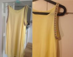 Yellow loose fit top with Aztec rope detailing! love love love