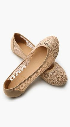 Floral Lace Breathable Flat