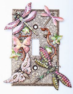 Dragonfly Light Switch Plate