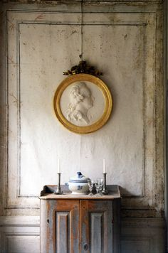 thisivyhouse:    Stucco medallion of Gustaf III
