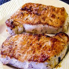 Pan Seared Oven Roasted Pork Chops from Loin from 101 Cooking for Two Baked Pork Loin Chops, Oven Roasted Pork Chops, Smoked Pork Chops, Pork Roast In Oven, How To Roast Pork, Tender Pork Chops In Oven, Cooking Pork Steaks, Cooking Boneless Pork Chops, Meals