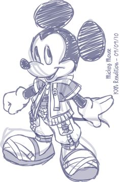 Sketch - Mickey Mouse by kevinxnelms on DeviantArt Kingdom Hearts Art, Best Games, Disney Art, Smurfs, Video Game, Mickey Mouse, Disney Characters, Fictional Characters, Animation