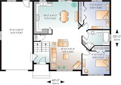 First Floor Plan of Traditional   House Plan 76231
