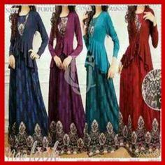 Baju Maxi Dress Muslim Batik KM230