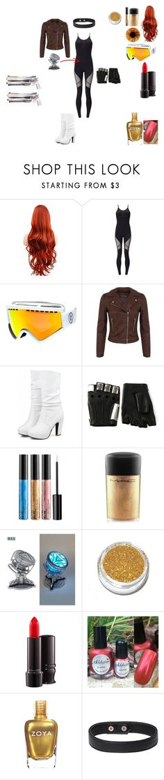 """""""Overwatch OC: Phoenix (Lilah Schroeder)"""" by madteddy ❤ liked on Polyvore featuring Sweaty Betty, Electric, Miss Selfridge, Majesty Black, MAC Cosmetics and Zoya"""