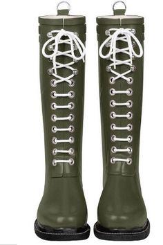 Ilse Jacobsen Rub 01 Rain Boot in Army ($198)