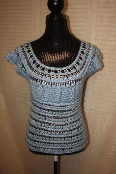 Vintage Baby Blue Soda Pop Tab Crochet by FromVintageAndBeyond, $79.99
