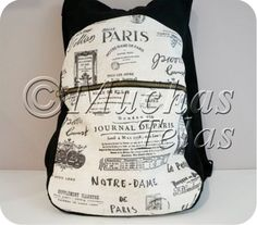Patterns and explanations to make a backpack Purse Tutorial, Couture Sewing, Simple Bags, Sewing Patterns Free, Handmade Bags, Sewing Projects, Lindor, Chula, Diy