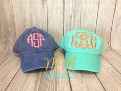 Excited to share this item from my  etsy shop  Monogrammed Hat 07d2de1687cd