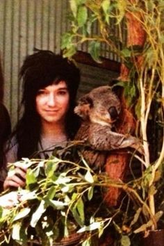 Jake with a Koala bear cute! Jake Pitts, Bvb Fan, Giving Up On Life, One Of The Guys, Andy Biersack, Band Memes, Celebrity Travel, Grown Man, Black Veil Brides