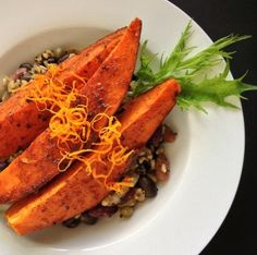 Chili Orange Spice Sweet Potatoes #vegan #food
