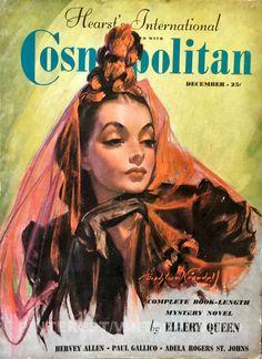 """Cosmopolitan magazine, DECEMBER 1937 Artist: """"First-Nighter"""" Bradshaw Crandell"""