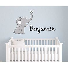 Boys Nursery Elephant Custom Personalized Name Wall Decal Large Nursery Elephant Wall Decals Boys Personalized Decals Elephants Nursery Decals Nursery Wall Decals PLUS FREE HELLO DOOR DECAL *** Visit the image link more details.-It is an affiliate link. Elephant Baby Rooms, Elephant Theme, Baby Boy Rooms, Baby Boy Nurseries, Elephant Nursery Decor, Elephant Design, Neutral Nurseries, Name Wall Decals, Nursery Wall Decals