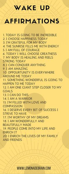 Affirmations for Success - Lemonade Brain I'm going to keep this one short and sweet. We all know that I LOVE affirmations. It may sound crazy, I know, but I swear to you that positive affirmations have really enriched and blessed … Positive Self Affirmations, Positive Affirmations Quotes, Affirmation Quotes, Positive Quotes, Affirmations Success, Miracle Morning Affirmations, Affirmations For Happiness, Motivacional Quotes, Life Quotes