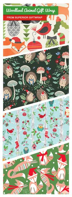 Such an amazing selection of adorable animal Christmas gift wrap from Superior Giftwrap! Which is your favorite?  #Giftwrap