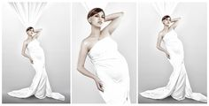 """""""White Pearl"""" Maternity high key photo, with white curtains wrapped around her body to build a dress. Eastvale California, Maternity Photography, Art Photography, Maternity Studio, Pearl White, One Shoulder Wedding Dress, Key Photo, White Curtains, Wedding Dresses"""