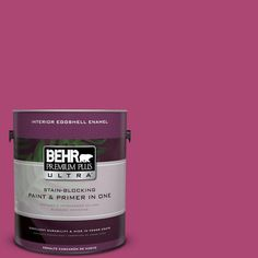 BEHR Premium Plus Ultra 1-gal. #100B-7 Hot Pink Eggshell Enamel Interior Paint
