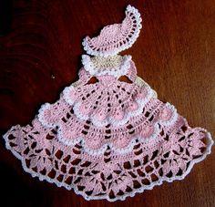 """Love Crochet: Crinoline Girl for Valentine's 9"""" tall"""