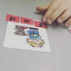 Build short e words!  Great center activity!