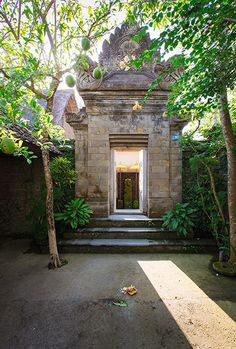 Beautiful traditional Balinese entrance to the villa.
