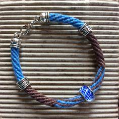 16 slot Kumihimo bracelet by Sue Stevenson Baby Boy Shoes, Slot, Crocheting, Macrame, Knit Crochet, Beading, Rocks, Braids, Knitting