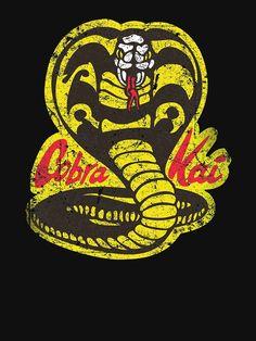 Shop Cobra Kai karate kid t-shirts designed by MindsparkCreative as well as other karate kid merchandise at TeePublic. The Karate Kid 1984, Karate Kid Cobra Kai, Cobra Kai Wallpaper, Kids Wallpaper, Animes Wallpapers, Cute Wallpapers, Cobra Kai Shirt, Black Mamba Snake, Cobra Kai Dojo