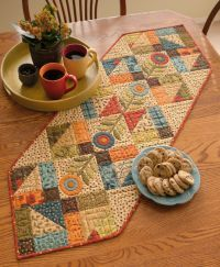 Bloom Creek Quilts (That Patchwork Place) Table Topper Patterns, Quilted Table Toppers, Table Runner And Placemats, Quilted Table Runners, Fall Table Runner, Quilted Table Runner Patterns, Patchwork Table Runner, Table Ikea, A Table