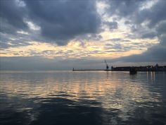 Thessaloniki, Greece at sunset by the sea