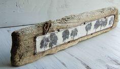 Blackbirds & Bumblebees: Driftwood Painting