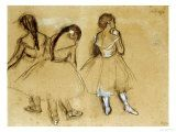 Perhaps my most favorite sketch ever. Beauty in shades.  Three Dancers by Edgar Degas