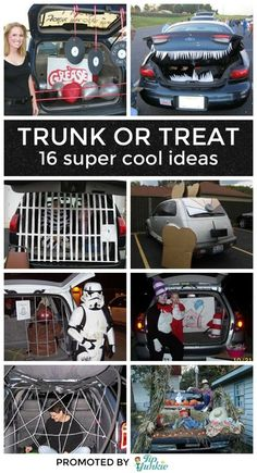16 ways to decorate your car for trunk or treat halloween