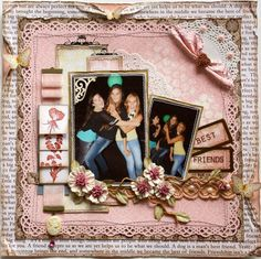 Layout: Best Friends **Websters Pages NEW Best Friends Collection!!**