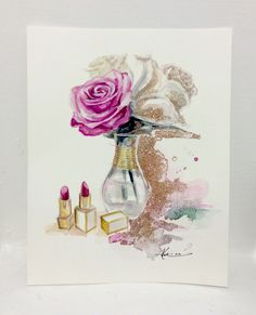 Floral Beauty/ Original Painting- by Katie Rodgers of Paper fashion.