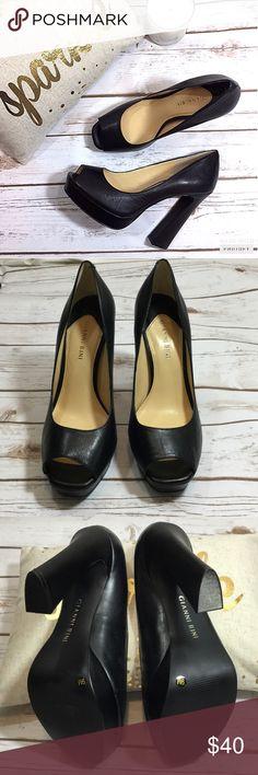 Stunning Mod Gianni Bini peep toe platform pumps Gorgeous size 9 genuine leather Gianni Bini peep toe platform pumps. EUC some minor scuffs 5 inch heels and 1 inch platform Gianni Bini Shoes Heels