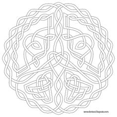 Don't Eat the Paste: Peace Symbol Knot to Color