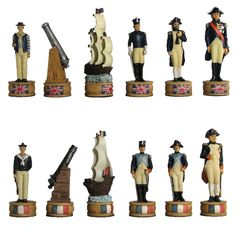 Figurine Chess Pieces: Battle of Trafalgar - Hand Painted $59.95