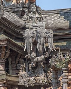 Temple Photograph - The Sanctuary Of Truth Carvings by Gerry Gantt Indian Temple Architecture, India Architecture, Ancient Architecture, Beautiful Architecture, Ancient Ruins, Ancient Art, Temple India, Hindu Art, Buddhist Art